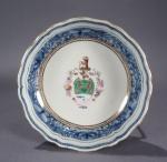 Armorial Fitzhugh tea saucer 1790