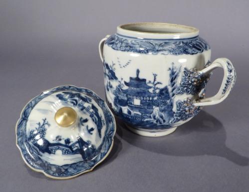 Blue and white sugar bowl 1770