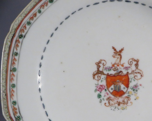 English market saucer 1760 detail