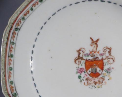 English market saucer 1760 detail