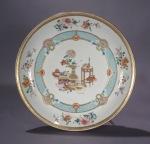 Famille rose large saucer 1730