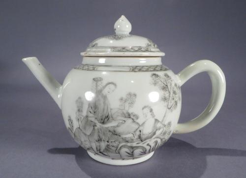 Grisailles teapot 1760