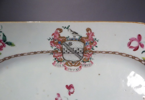 Armorial platter arms of Stewart detail 1