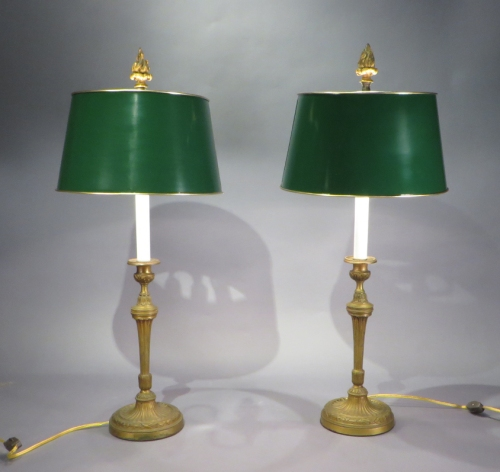 Candlesticks 1850 converted to lamps
