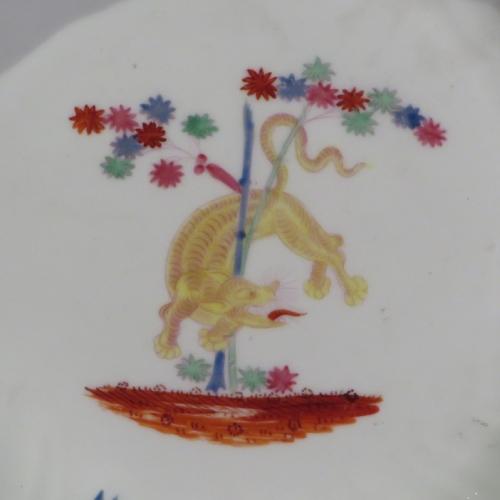 Caughley Kakiemon plate 1780 detail 1
