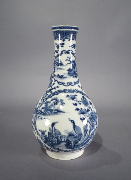 Blue and white water bottle 1760 detail 1