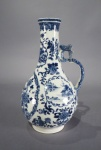 Blue and white water bottle 1760