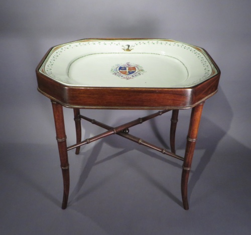 Chinese armorial platter tray table