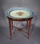 Chinese famille rose shaped platter tray table