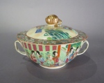 Rose mandarin bouillon bowl 1830