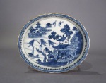 Blue and white teapot stand 1780