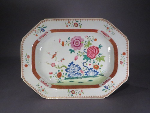 Famille rose tureen underplate 1760