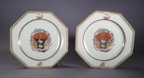 Armorial plate pair honor basis vitae