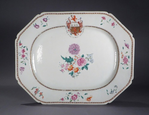 Armorial platter arms of Inglis 1765