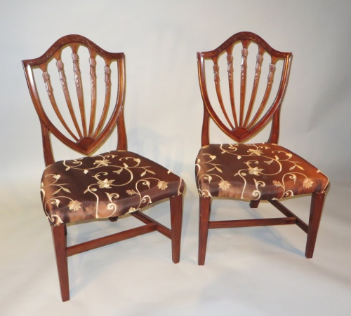 Philadelphia pair side chairs 1810