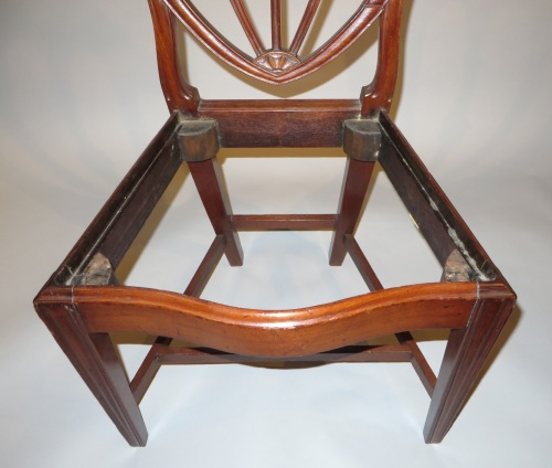Salem Mass pair side chairs 1810 detail 2