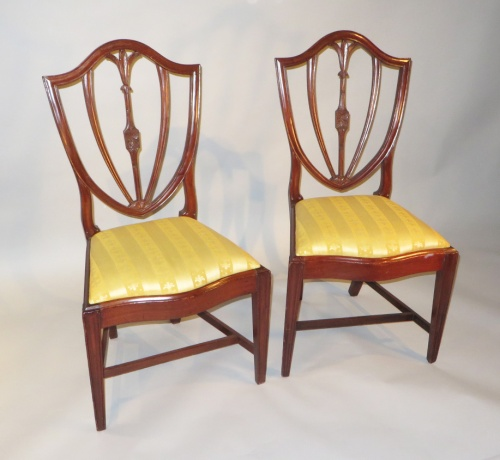 Salem Mass pair side chairs 1810