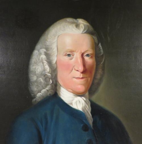 Alexander Grant oil portrait detail 2