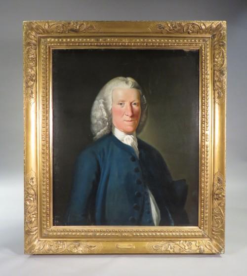 Alexander Grant oil portrait framed