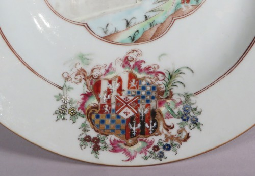 Armorial plate arms of cooke quartering warren detail 1