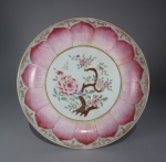 Famille rose lotus ware large saucer