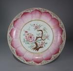 Famille rose lotus ware large saucer