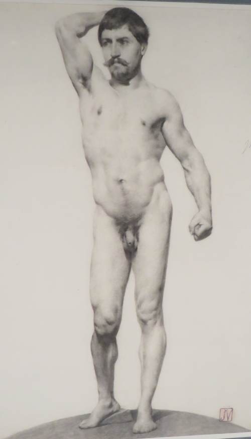 Male nude charcoal detail 1