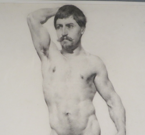 Male nude charcoal detail 3