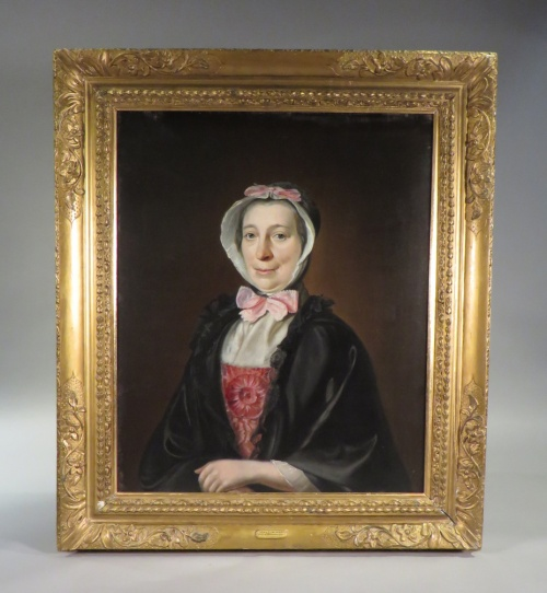 May Chalmers oil portrait framed