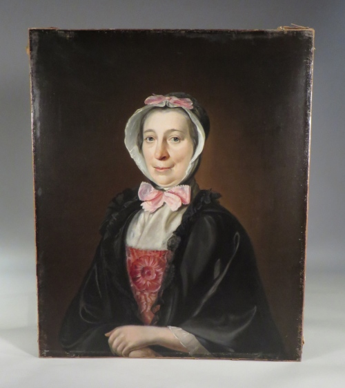 May Chalmers oil portrait unframed