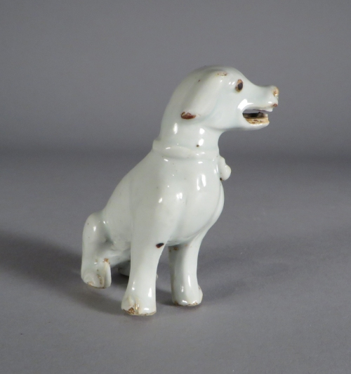Chinese figure of a hound detail 2