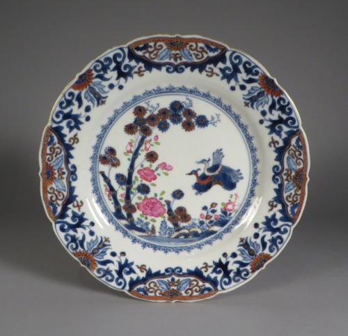 Chinese Imari pair plates 1750 detail 1