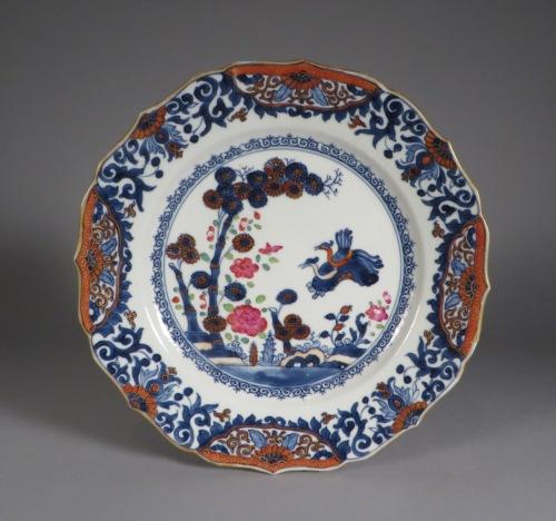 Chinese Imari pair plates 1750 detail 2