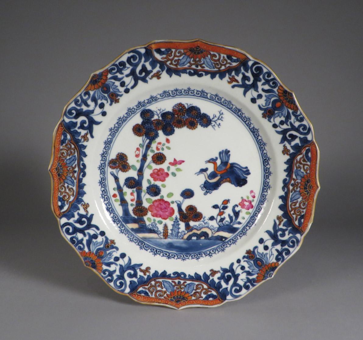 Chinese Imari pair plates 1750 detail 2 & Pair of Chinese Imari Dinner Plates c.1750 | DUBEYu0027S ART u0026 ANTIQUES