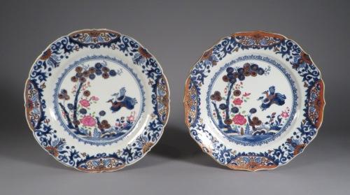 Chinese Imari pair plates 1750