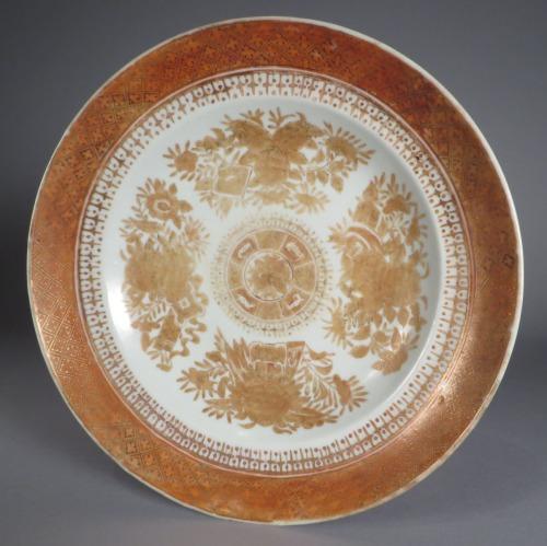 Fitzhugh orange and brown berry dish detail 1