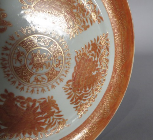 FItzhugh orange dinner plate 1820 detail 1