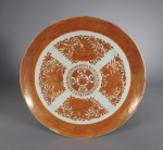 FItzhugh orange dinner plate 1820