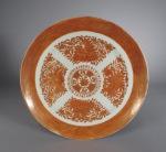 FItzhugh orange dinner plate 1820