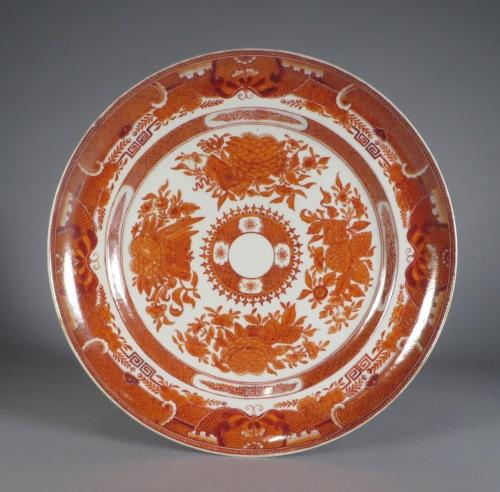 Orange Fitzhugh plate