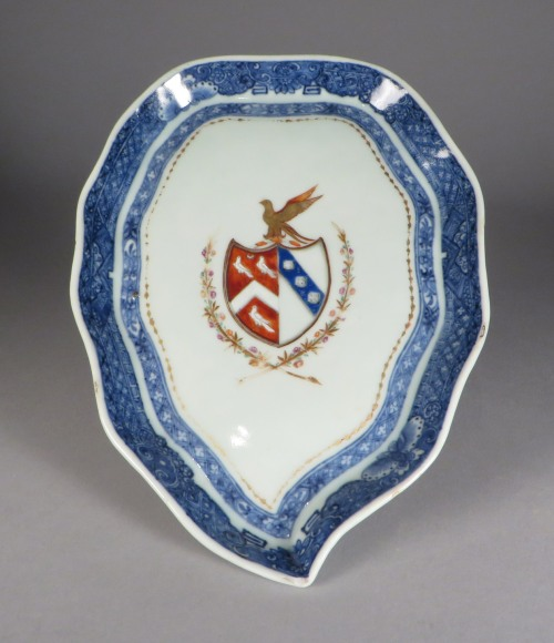 Armorial arms of page lowdham sauce boat underplate 2