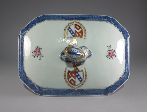 Armorial arms of page lowdham tureen lid