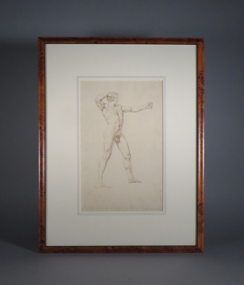 Archer framed drawing