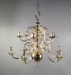Brass two tiered chandelier