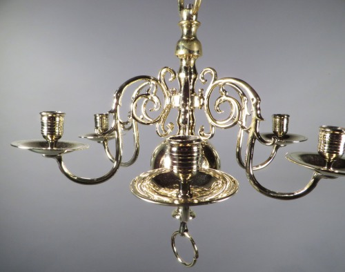 Small brass chandelier detail 1