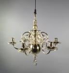Small brass chandelier