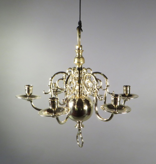 Small brass chandelier