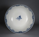 Blue and white punch bowl 1760
