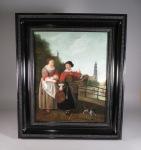 H van der Meulen oil on canvas 1863