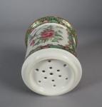 Rose medallion strainer cup detail 2